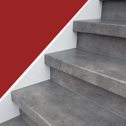 Effet basalte pour la rénovation d'escalier