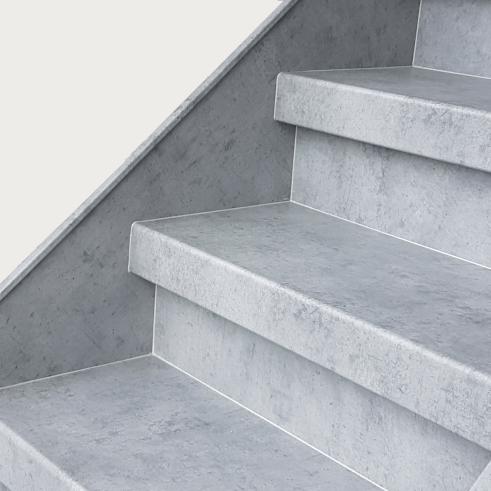 Effet béton pour la rénovation d'escalier